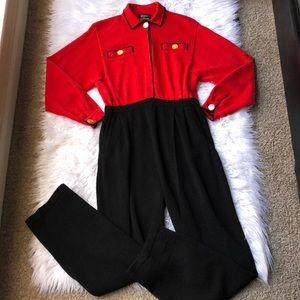 Vintage 80's Don Sayers Wool Jumpsuit